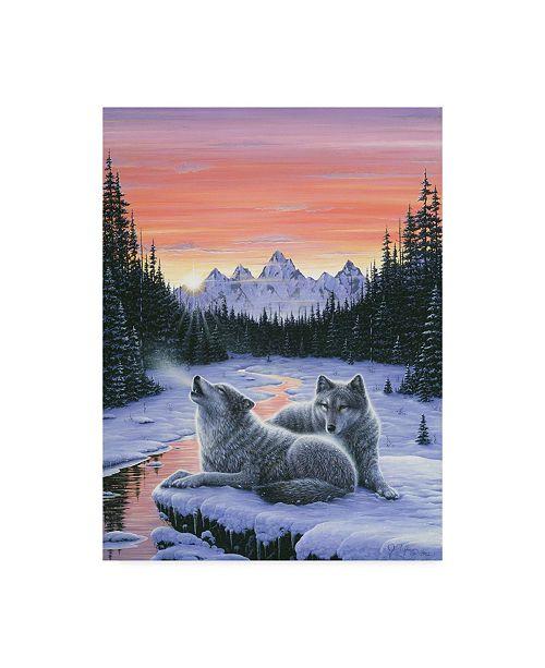 """Trademark Global Jeff Tift 'Winters Dawn' Canvas Art - 24"""" x 18"""" x 2"""""""