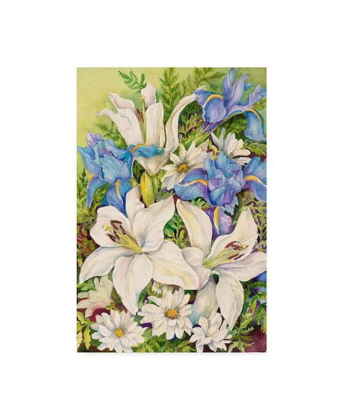 """Trademark Global Joanne Porter 'A Blue And White Mix' Canvas Art - 24"""" x 16"""" x 2"""""""