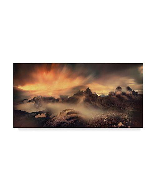 "Trademark Global Mikhaliuk Siarhei 'Tre Cime Di Lavaredo' Canvas Art - 32"" x 16"" x 2"""
