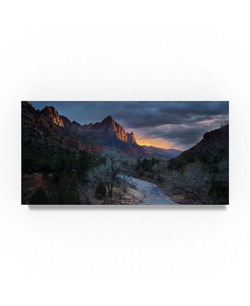 """Trademark Global Moises Levy 'Southwest' Canvas Art - 47"""" x 24"""" x 2"""""""