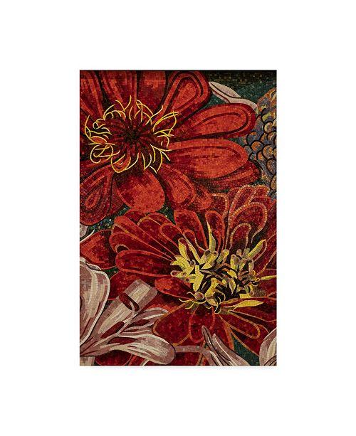 "Trademark Global Moises Levy 'Art Flower Pattern' Canvas Art - 19"" x 12"" x 2"""