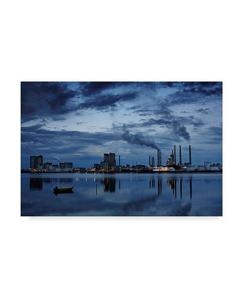 "Trademark Global Niels Christian Wulff 'Cloudy Portland' Canvas Art - 24"" x 2"" x 16"""