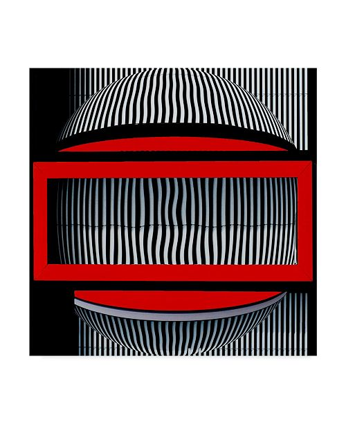 "Trademark Global Wayne Pearson 'Red Frame With Attitude' Canvas Art - 24"" x 2"" x 24"""