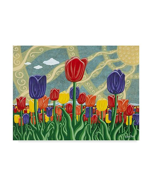 "Trademark Global Jake Hose 'Tulip Field' Canvas Art - 24"" x 18"" x 2"""
