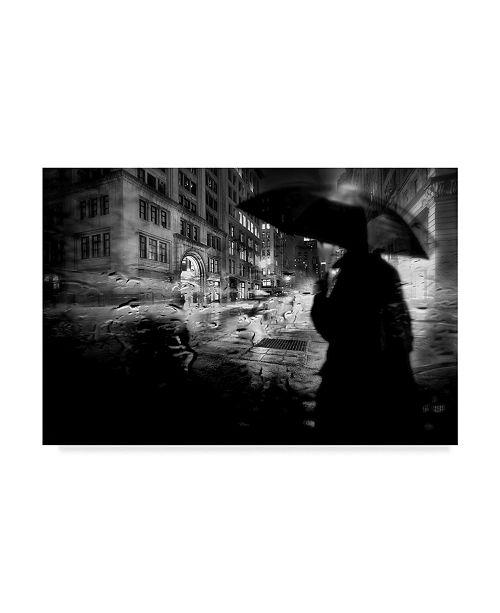 "Trademark Global Stefan Eisele 'Night Walk In The Rain' Canvas Art - 32"" x 2"" x 22"""