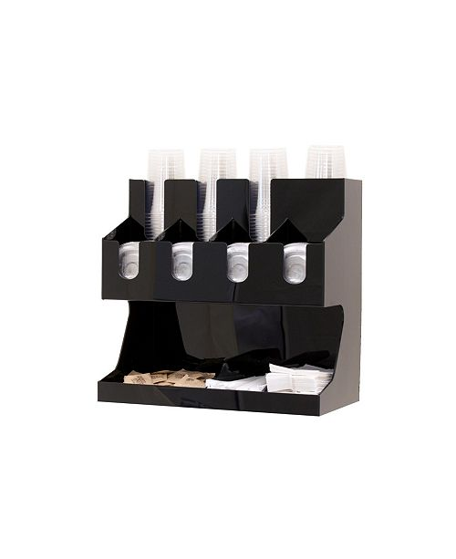 Mind Reader Coffee Condiment and Accessories Caddy Organizer, for Coffee Cups, Stirrers, Snacks, Sugars, etc.