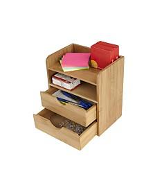 Mind Reader 4-Tier Desk Organizer with 2 Drawers