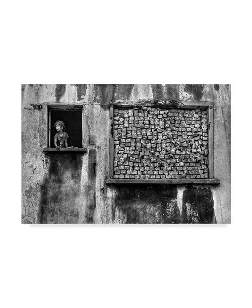 "Trademark Innovations Ozden Sevim 'Brick Portrait' Canvas Art - 32"" x 2"" x 22"""