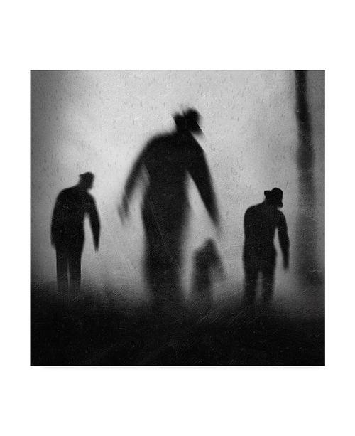 "Trademark Global Jay Satriani 'Silhouettes In Gray' Canvas Art - 14"" x 2"" x 14"""