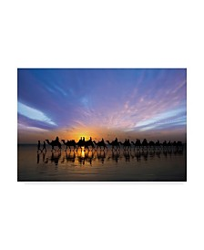 "Renee Doyle 'Sunset Ride' Canvas Art - 47"" x 2"" x 30"""