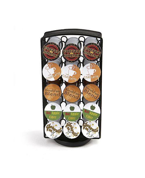 Mind Reader 30 Capacity K-Cups Coffee Pod Holders Carousel Metal Mesh