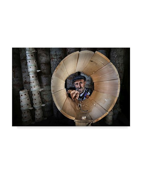 "Trademark Global Mustafa Zengin 'Bucket Maker' Canvas Art - 47"" x 2"" x 30"""