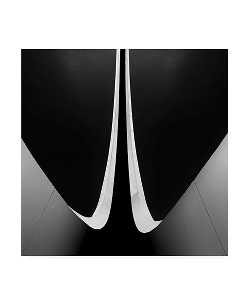 "Trademark Innovations Paulo Abrantes 'Ending Circles' Canvas Art - 35"" x 2"" x 35"""