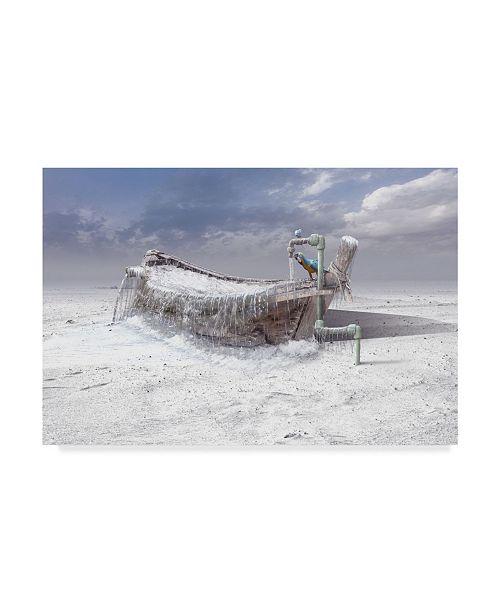 "Trademark Global Sulaiman Almawash 'The Frozen Water' Canvas Art - 47"" x 2"" x 30"""
