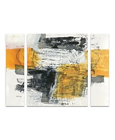 "Jane Davies 'Action I' Multi Panel Art Set Large 3 Piece - 34"" x 44"" x 2"""