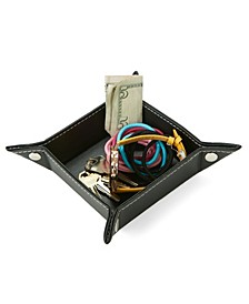Leather Jewelry Tray, Coins, Watches, Wallet, Candy Holder Tray Box
