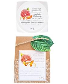 Grapefruit & Blood Orange Fine Salt Scrub, 12-oz.