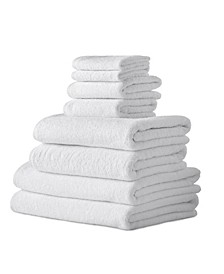Classic Turkish Towels Arsenal 8 Piece Turkish Cotton Towel Set with 2 Large Bath Sheets Included