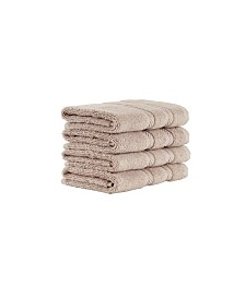 Classic Turkish Towels Antalya 4 Piece Luxury Turkish Cotton Washcloth Towel Set