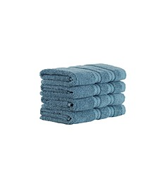 Classic Turkish Towels Antalya 4 Piece Luxury Turkish Cotton Washcloth Towel Set Collection