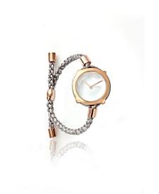 RumbaTime Gramercy Gem Crystal with Custom Braided Band Watch