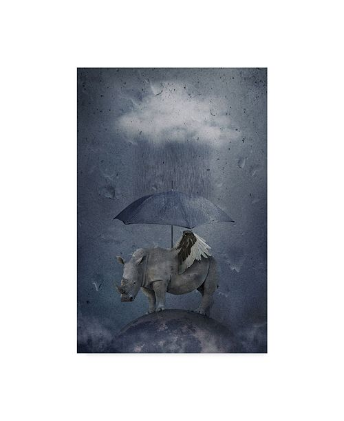 "Trademark Global Muriel Vekemans 'Under The Rain' Canvas Art - 16"" x 2"" x 24"""