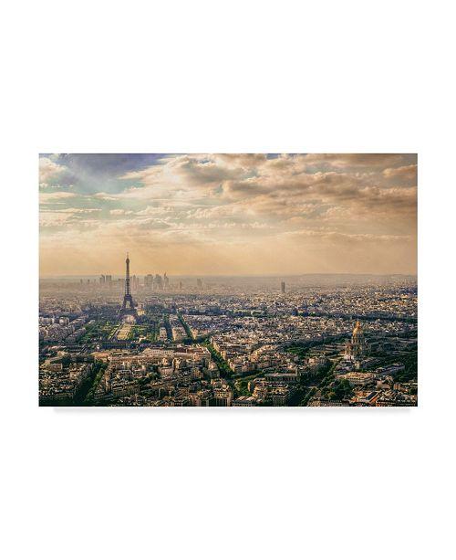 "Trademark Global Mohamed Kazzaz 'Paris France' Canvas Art - 24"" x 2"" x 16"""