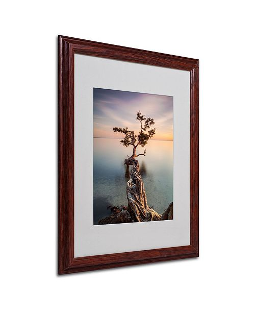 "Trademark Global Moises Levy 'Water Tree III' Matted Framed Art - 16"" x 20"" x 0.5"""