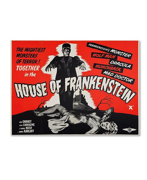 "Trademark Global Vintage Apple Collection 'House of Frankenstein' Canvas - 24"" x 32"" x 2"""