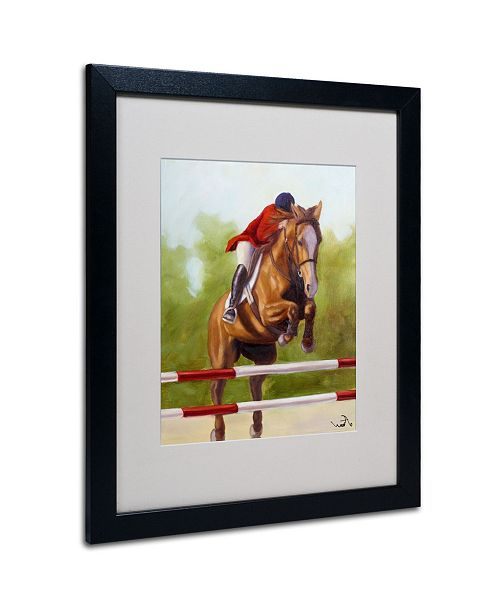 "Trademark Global Michelle Moate 'Horse of Sport III' Matted Framed Art - 20"" x 16"" x 0.5"""