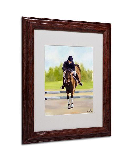 "Trademark Global Michelle Moate 'Horse of Sport X' Matted Framed Art - 14"" x 11"" x 0.5"""