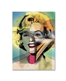 """Mark Ashkenazi 'Marilyn Monroe IV' Canvas Art - 19"""" x 14"""" x 2"""""""