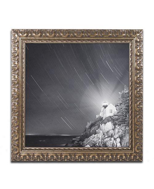 """Trademark Global Moises Levy 'Bass Harbor Sky' Ornate Framed Art - 16"""" x 16"""" x 0.5"""""""