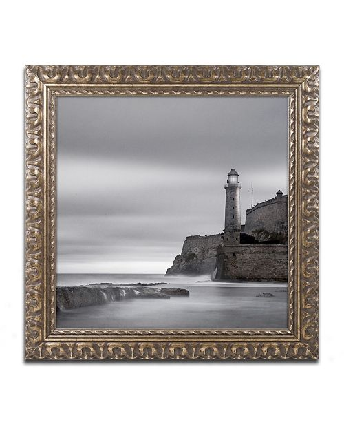 "Trademark Global Moises Levy 'Morro Lighthouse' Ornate Framed Art - 11"" x 11"" x 0.5"""