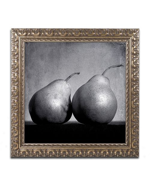 """Trademark Global Moises Levy 'Coqueteo Peras' Ornate Framed Art - 16"""" x 16"""" x 0.5"""""""