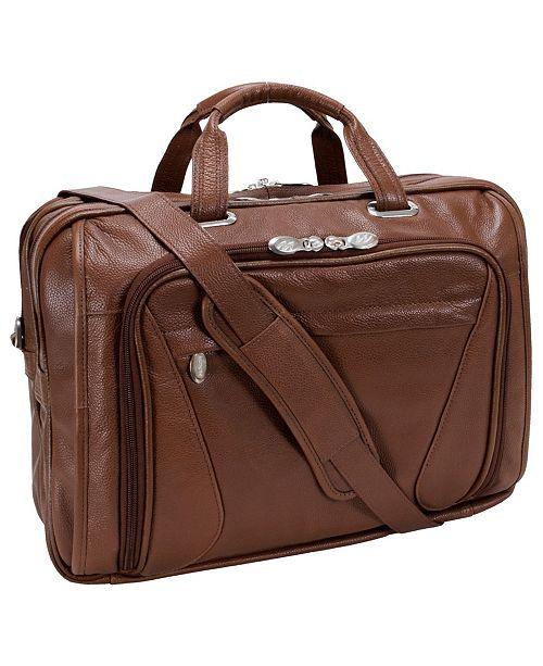 McKlein Irving Park Double Compartment Laptop Briefcase