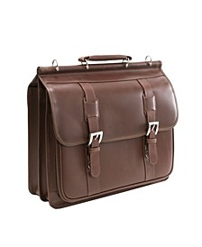"""Siamod Signorini, 15"""" Double Compartment Laptop Briefcase"""