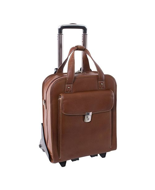 McKlein Siamod Pastenello Vertical Patented Detachable -Wheeled Laptop Briefcase