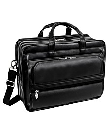 Elston Checkpoint-Friendly Double Compartment Laptop Briefcase
