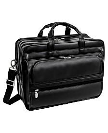 Mcklein Elston Checkpoint-Friendly Double Compartment Laptop Briefcase