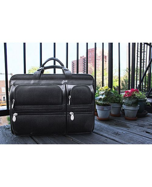Hubbard Double Compartment Laptop Briefcase