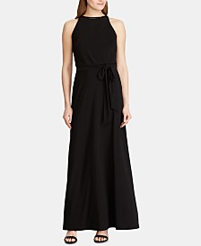 Lauren Ralph Lauren Beaded-Trim Jersey Gown
