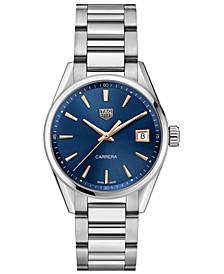 Women's Swiss Carrera Stainless Steel Bracelet Watch 36mm