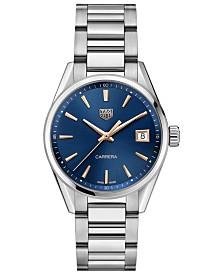TAG Heuer Women's Swiss Carrera Stainless Steel Bracelet Watch 36mm