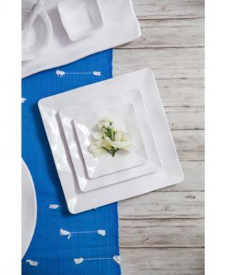 White Ruffle Melamine Serving Bowl