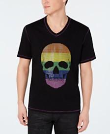 I.N.C. Men's Adapt Rainbow Skull T-Shirt, Created for Macy's