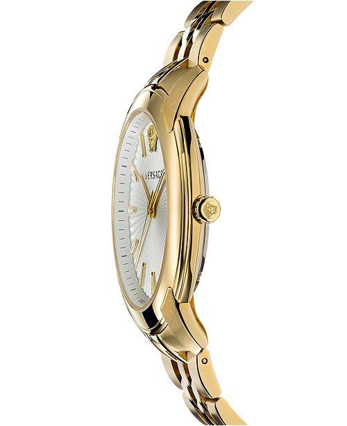 bracelet homme42mmReviews acier inoxydable Bijoux en pour ton V dore Montre urban Or en de VersaceMontre l3u51JcTKF