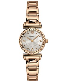 Women's Swiss Mini Vanity Rose Gold Ion-Plated Stainless Steel Bracelet Watch 27mm