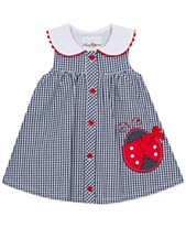 050331082 Rare Editions Baby Girls Gingham Seersucker Dress