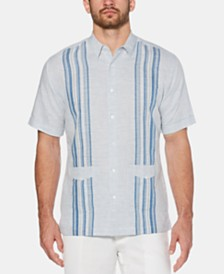Cubavera Men's Two-Pocket Stripe Linen Shirt